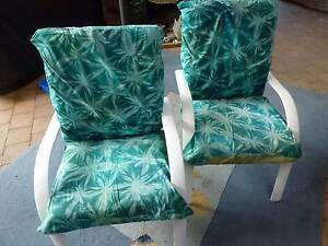 Retro outdoor armchairs with cushions and removable covers Mooroobool Cairns City Preview
