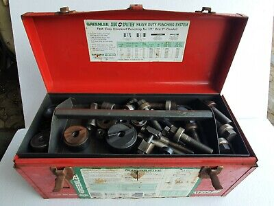 Greenlee Hydraulic Knockout Punch Set With Extra Punches