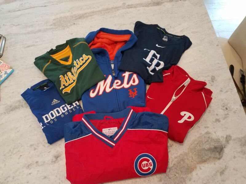 Lot Of 6 - Shirt, Zip Hoodie, Zip Track, Pullover MLB Mix of NEW & EUC