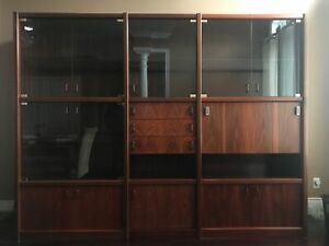 Rosewood traditional  wall unit - comes in 3 sections