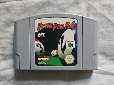 VIRTUAL POOL 64 Nintendo 64 N64 Game PAL VERSION