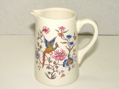 Vintage Royal Doulton Furness Bermuda Line Cruise Floral Peacock Ceramic Creamer Royal Doulton Line
