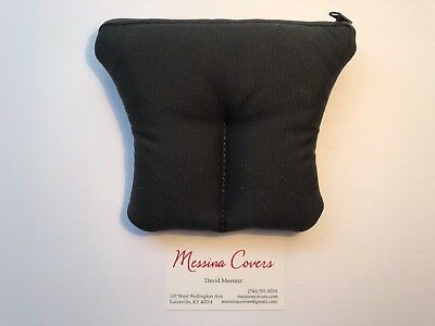 Messina Covers 2 Tuba Mouthpiece Case Pouch Double Bag Black