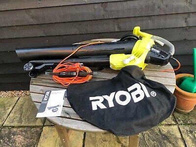 Ryobi 3000W Electric Leaf Blower Mulching Vacuum RBV3000CESV-01 Barely Used