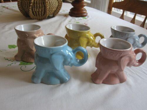 Frankoma GOP Elephant Mugs - Group of 5