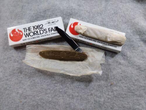 2 PARKER CUT 1982 WORLDS FAIR POCKET KNIVES