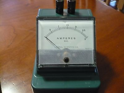 Vintage DC Meter-Central Scientific 0-3 Steampunk? 1960's? Amps Ampheres Amp