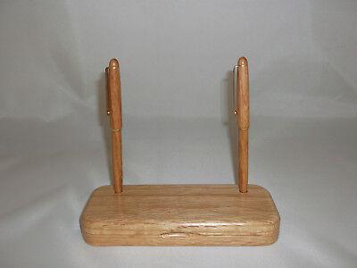 Whitman Desktop Gift set Oak Wood Pen & Pencil in Wood Box