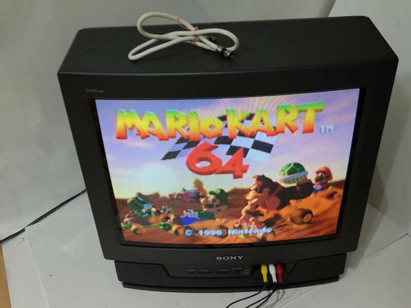 "1994 Sony Trinitron Tube CRT KV-20TS32 Vintage 20"" Color TV Gaming *TESTED*Gamer"