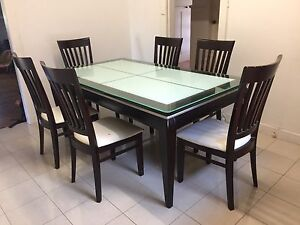 Solid wood Dining table  6 chairs and coffee table set Lane Cove Lane Cove Area Preview