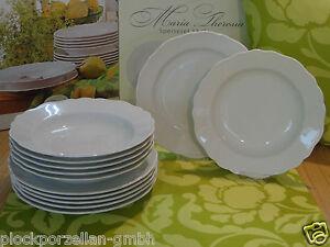 HUTSCHENREUTHER Porzellan MARIA THERESIA Weiß Tafel Speise-Service 12-teilig tlg