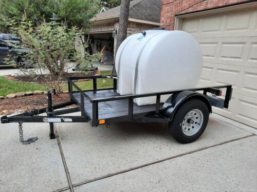 Trailer with 300 gallon horizontal tank