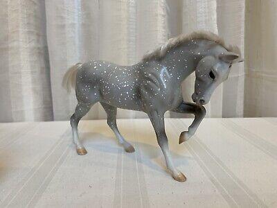 Vintage 1995 Reeves Breyer Ponies Horse Brushable Hair Gray & White Mane Tail