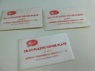 3 Vintage Meco Clear Cover Plate Plastic Cr-39 Plastic