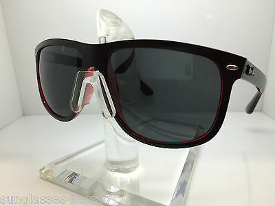 AUTHENTIC RAYBAN  RB 4147 6171/87 MATTE BLACK/RED GREY LENS