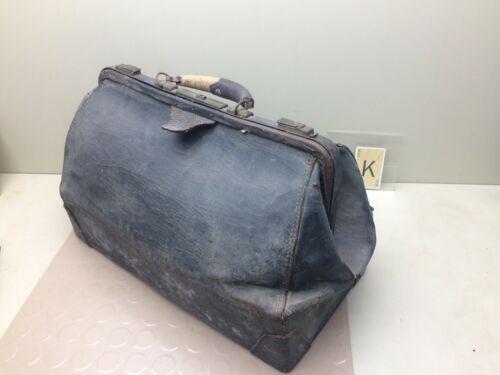 ANTIQUE VINTAGE LARGE DOCTOR BAG MEDICAL BAG or TRAVEL BAG