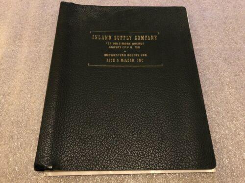 Vintage Inland Supply Company Intertype Linotype Binder Catalog