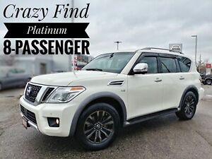 2017 Nissan Armada Platinum 8-Rider Platinum!!!  FREE Delivery