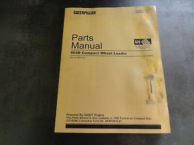 Caterpillar Cat 904b Compact Wheel Loader Parts Manual B4l Sebp4015-01