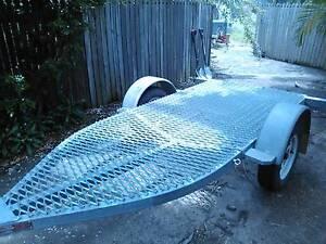Flatbed Quad Bike / Motorbike Trailer - Galvanised Yorkeys Knob Cairns City Preview