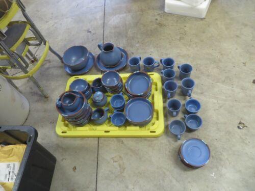 Dansk Blue Mesa: 48 various pieces. Plates, bowls, etc. Various Conditions. Read