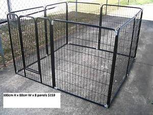 BRAND NEW Pet Dog Exercise Encl Fence Play Pen Run-100cmx8 PANEL Kingston Logan Area Preview
