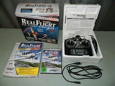 Real Flight R/C Simulator G4 Interlink Elite Futaba Controller w/ G5.5 Software