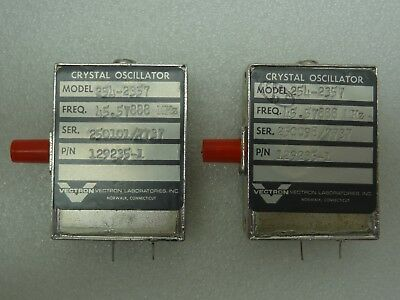 Lot Of 2 Vectron Model 254-2357 Crystal Oscillators Pn 129235-1 45.57888 Mhz