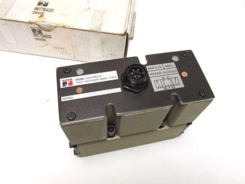 * NEW .. ROSS CONTROLS Pneumatic Valve 24VDC Cat# 8077B4331 .. UQ-27