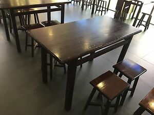 Wooden cafe tables Belmont Belmont Area Preview