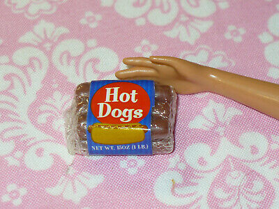 Barbie Doll Food TYCO Kitchen Littles PACKAGE of HOT DOGS Dream House Accessory