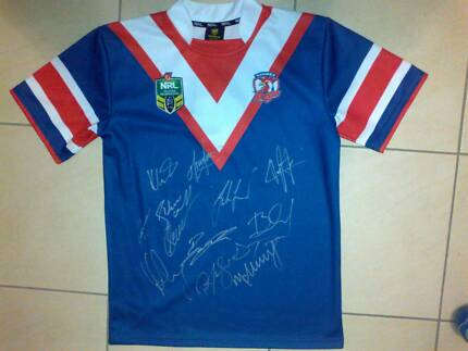 SIGNED Sydney Roosters NRL rugby league jersey - new with tags