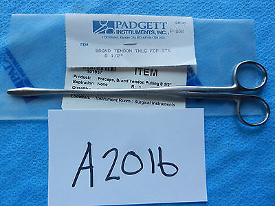 Padgett Surgical Brand Tendon Pulling Forceps 8 12 P-202 New