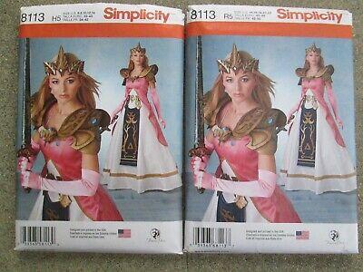 Simplicity 8113 Warrior Princess Zelda Armor Costume Pattern SZS 6-14 OR 14-22