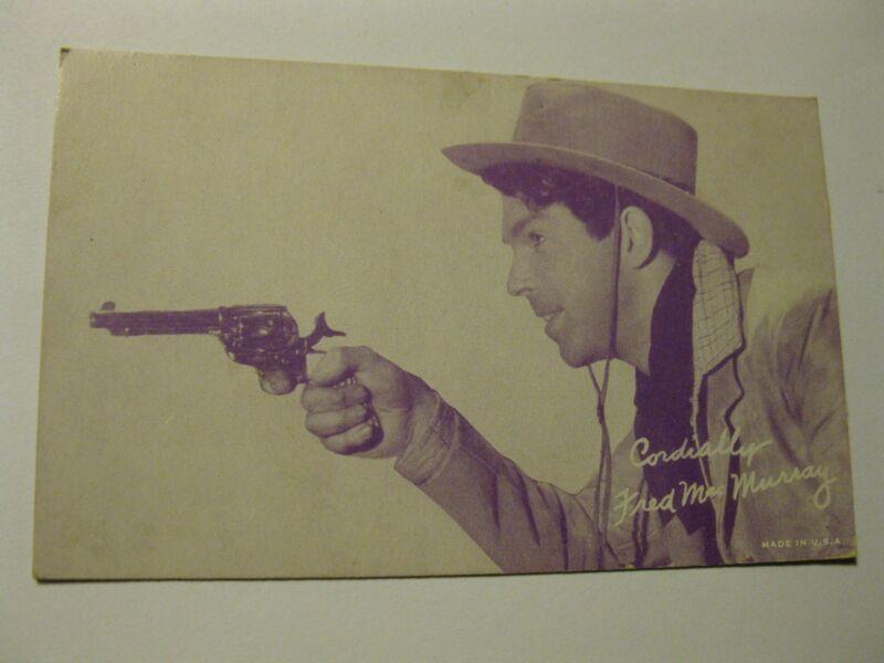 Vintage 1950s Arcade Card Fred MacMurray Cowboy Western Trading Souvenir USA