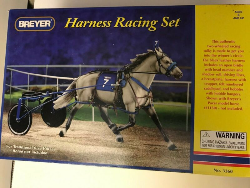 Breyer #3360 Harness Racing Set Horse Accessories Traditional Size Rare item NIB