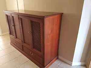 Country Manor Aged Timber Cabinet Denistone West Ryde Area Preview