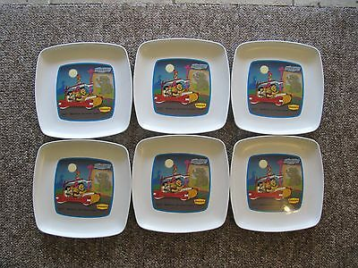 1989 Denny's Flintstones Collectors Plates.  SIX Bedrock Saturday Night.