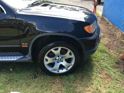 BMW X-Series 4x4 bmw x5 4.4l v8 BMW V8 4.4 BLACK WRECKING CAR 4