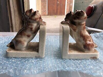 Rare Antique Evolution Book Stand Cats In Good Condition
