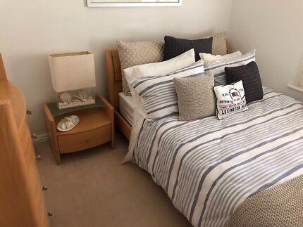 Bedroom Furniture, queen bed and matress