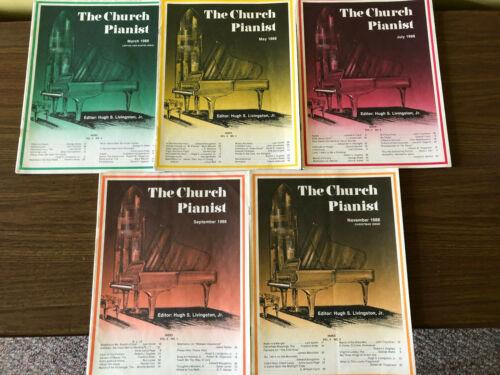 LOT Of 5 Church Pianist 1988 Piano Sheet Music Religious Devotional Gospel