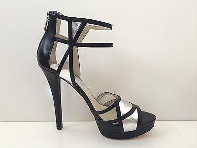 $165 NIB Michael Kors Jaida Back Zip Womens Leather Dress Sandals Shoes sz 10M
