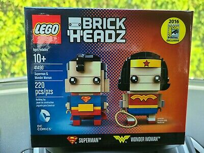 LEGO SDCC 2016 Brick Headz Superman & Wonder Woman Exclusive 41490 SEALED!!