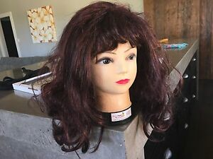 Ladies fancy dress brown wavy wig with fringe Ashton Adelaide Hills Preview