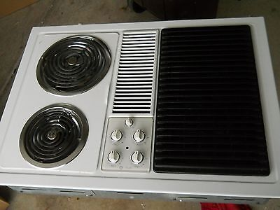 ge downdraft modular cooktop white or black with grill unit