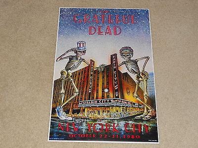Grateful Dead Halloween (Large Grateful Dead NYC Halloween 1980 Radio City Concert Poster, 19
