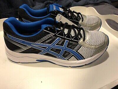 NIB Aasics Gel Contend 4 Men's Running Shoe Silver/Blue/Black Size 11