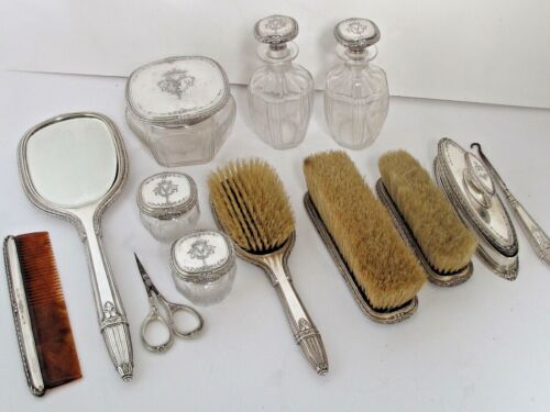 Antique13 pc.Sterling Dresser Set Fine Quality Sold by Feagan
