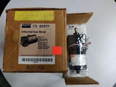 Dayton Model 6z077 Gear Motor 16.7 Rpm 120 Hp 115v 6050hz New In Box